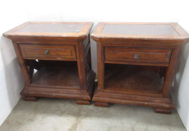 (2) Matching Wood End Tables/Night Stands