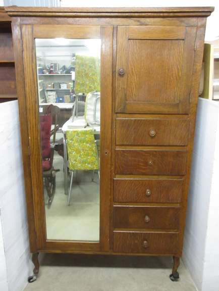 Antique Solid Wood Wardrobe Cabinet