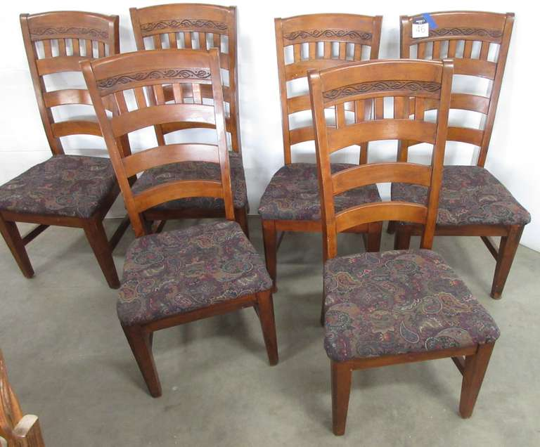 (6) Wooden Chairs