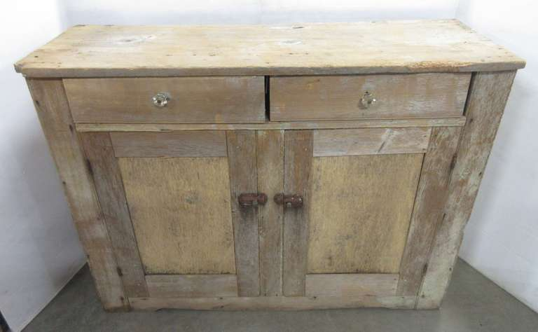 Primitive Cabinet with Original Hardware