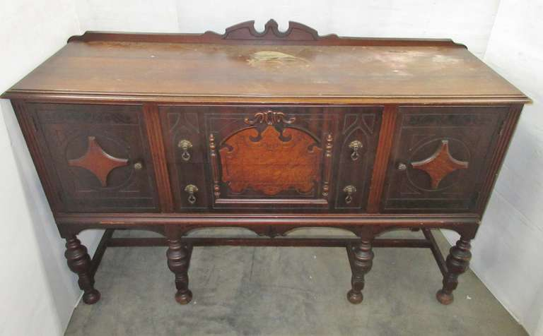 Antique Jacobean Style Buffet