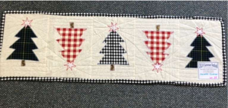 Handmade Christmas Tree Table Runner