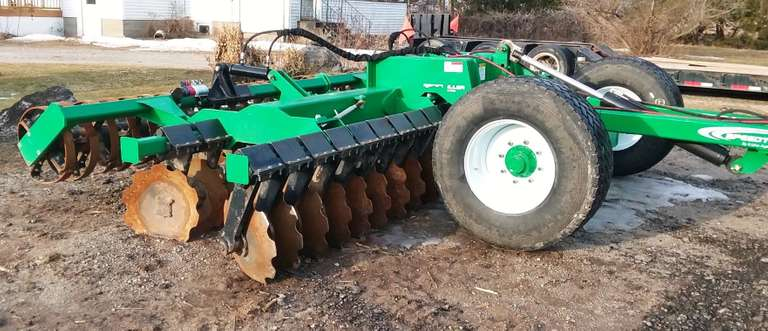 2016 K-Line Speedtiller, Hydraulic Depth Control, 20'W, Can be Used as a Three-Point Disk or with 2018 Carrier that Comes with it, All Purchased New in 2018, Low Acres