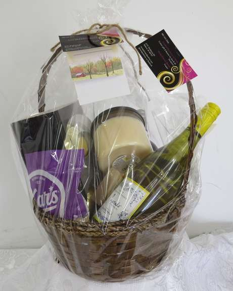 Gift Basket, Candles, Wine, Glasses, Buyer Must be At Least 21 Years of Age to Purchase