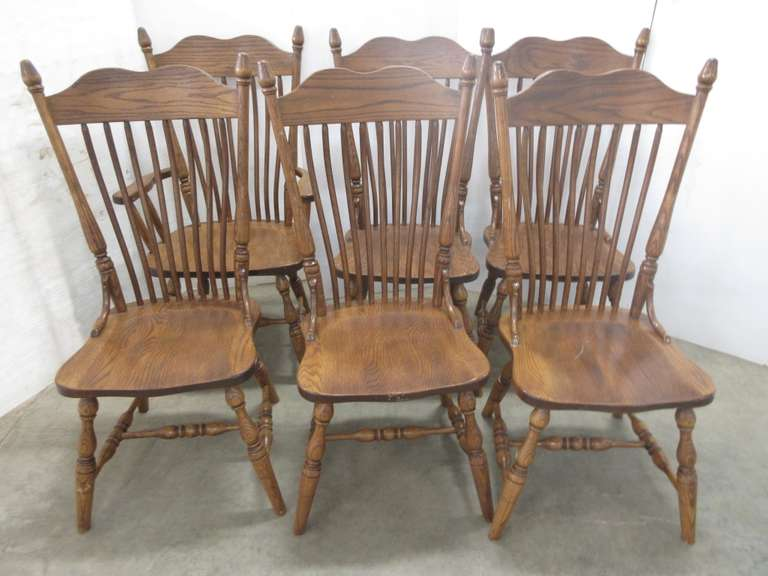(6) Amish Made Chairs