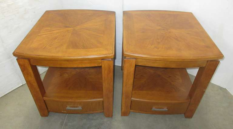(2) Matching End Tables with Drawers