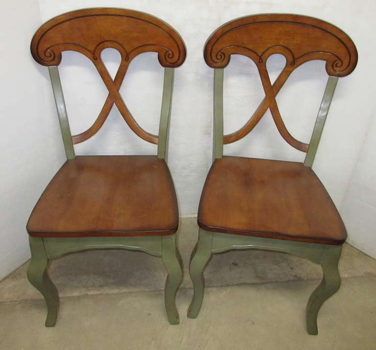 (2) Pier One Import Wood Chairs