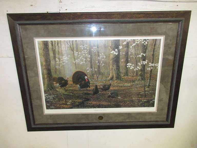 "NWTF ""Dogwood Lane"" by Wilhelm Goebel, Numbered and Signed, No. 217/2600, Double Matted"