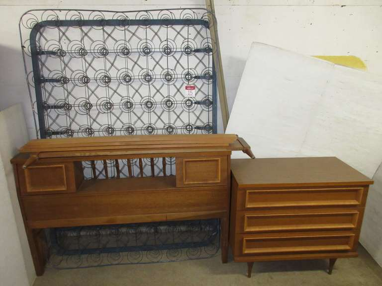 Mid 1960s Bed and Dresser Set
