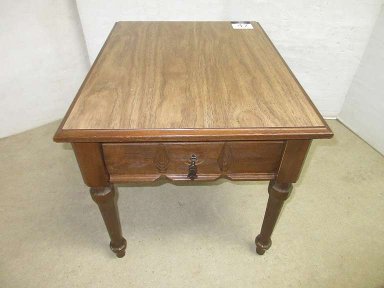 End Table with a Drawer, Matches Lot No. 48