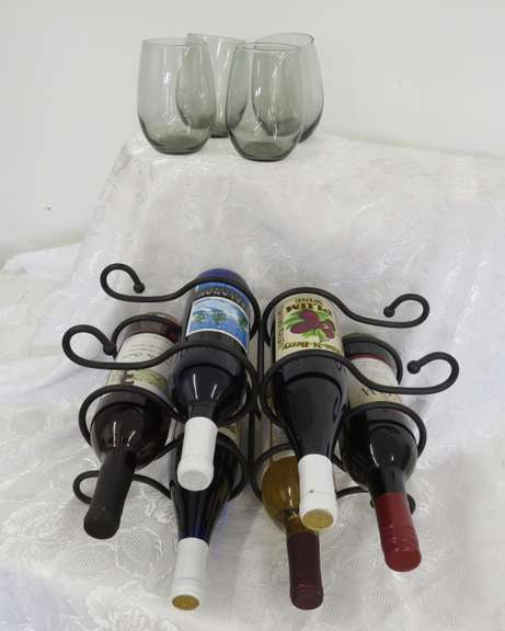 Wine Rack with Wine, Buyer Must be At Least 21 Years of Age to Purchase