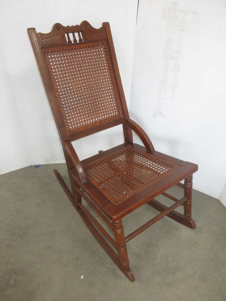 Antique Cane Rocking Chair