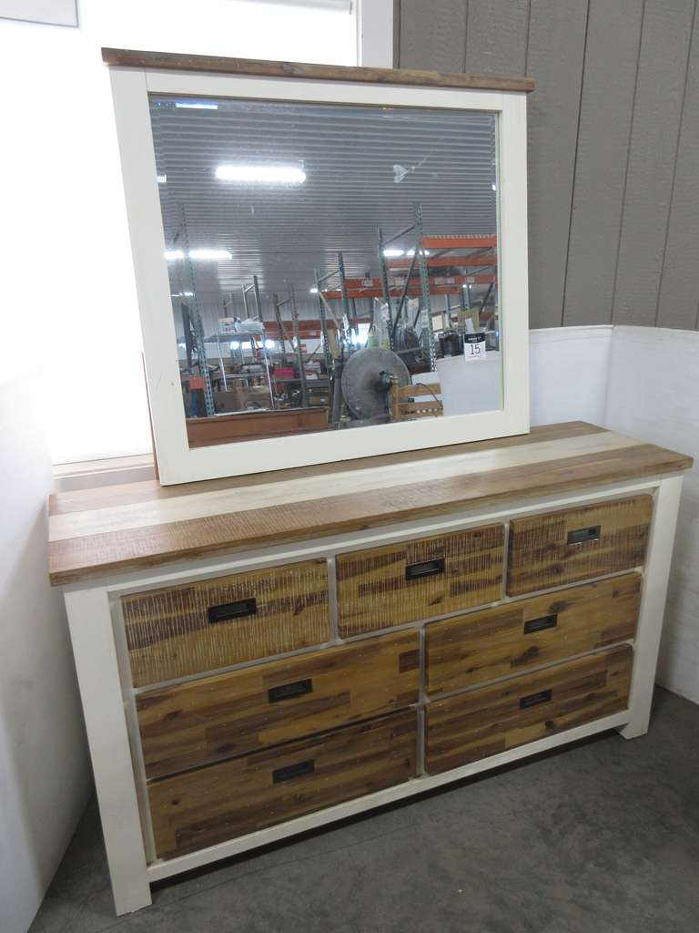 Seven-Drawer Dresser with Mirror