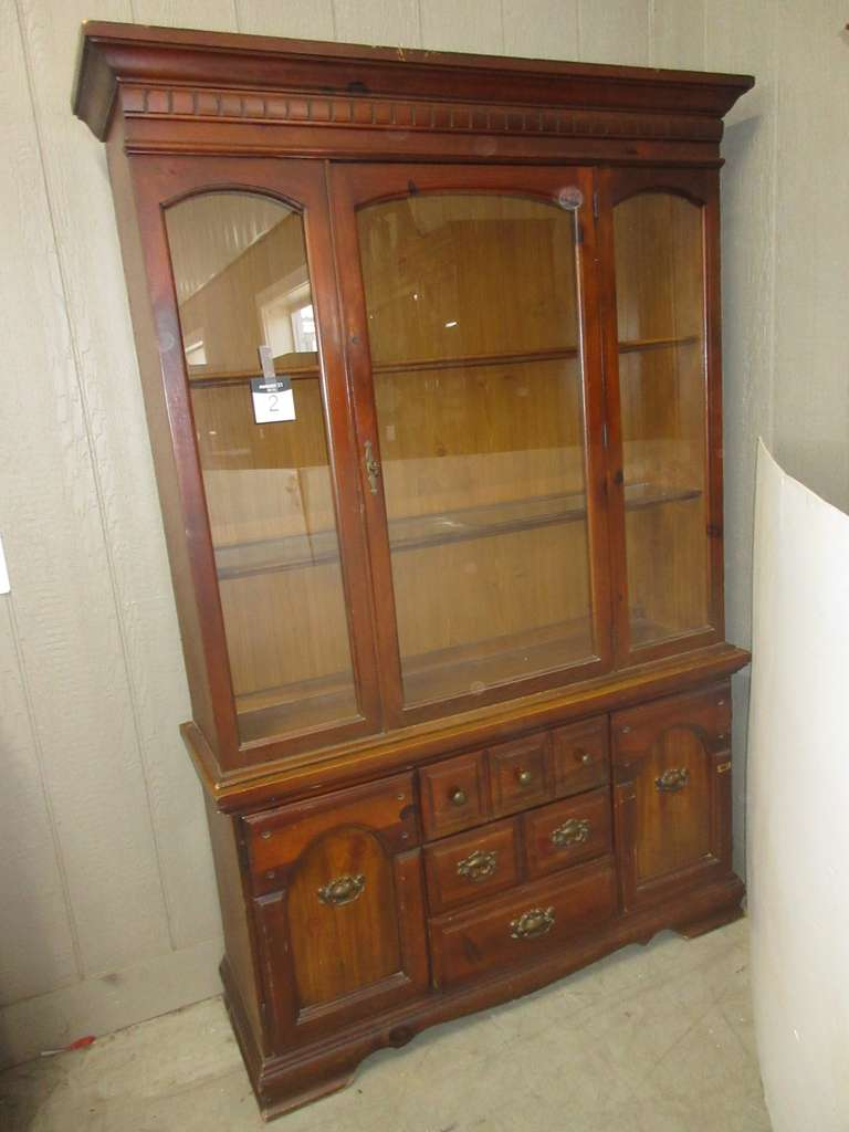 Lighted Two-Piece China Cabinet