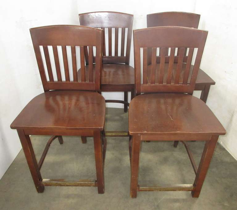 (4) Wood Counter Height Chairs