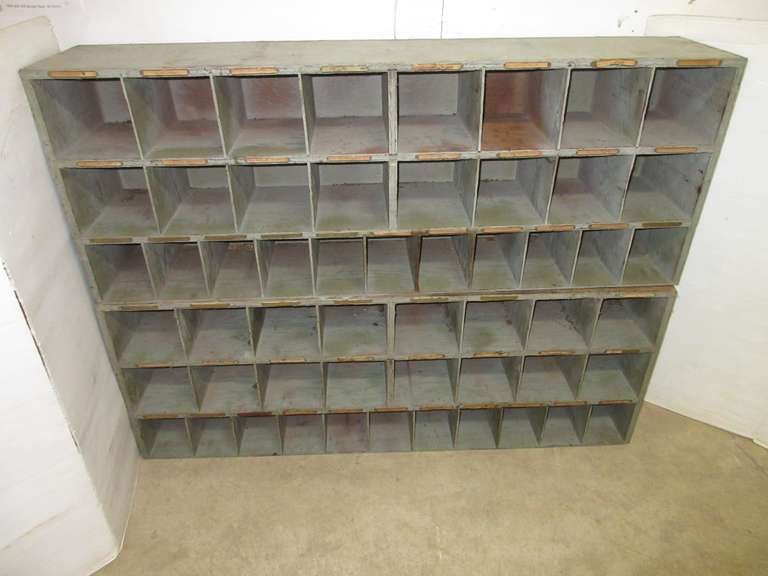 (2) Antique 27-Drawer Hardware General Store Organizers