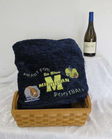 Michigan Blanket with Wine, Buyer Must be At Least 21 Years of Age  to Purchase