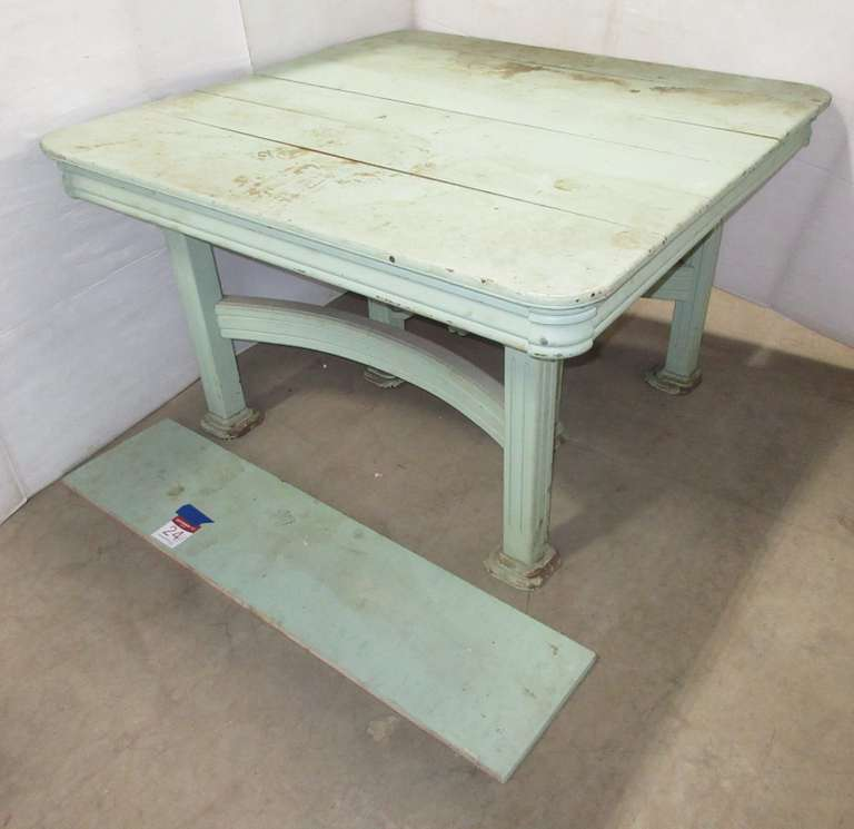 Large Antique Oak Table with a Leaf