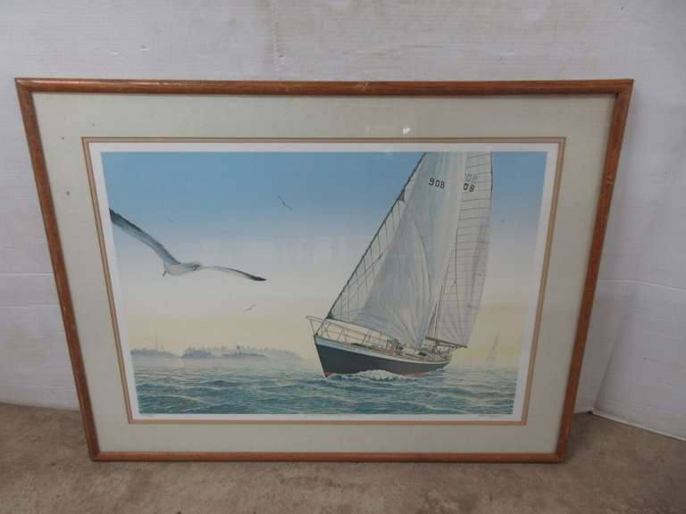 6 Points Off the Wind Print, Signed and Numbered, No. 234/300, Double Matted