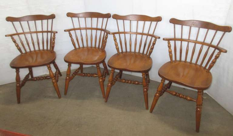 (4) Hardwood Chairs