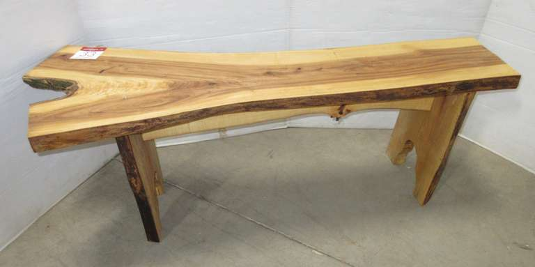 Elm Bench, Live Edge, Rough Sawn