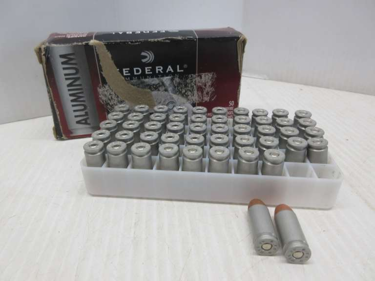 (50) .40 S&W Cartridges, 180-Grain, FMJ Round Nose by Federal