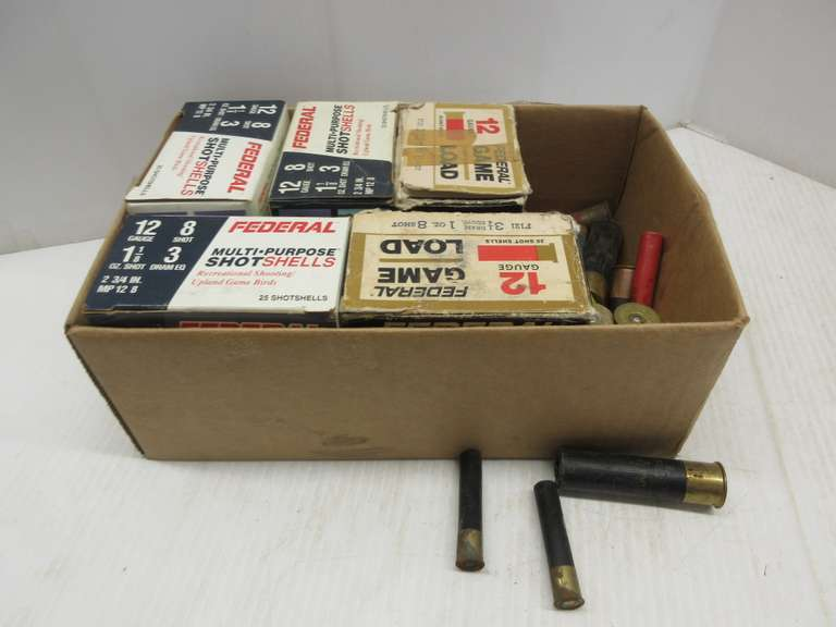 "(4) Boxes and (44) Rounds of 12-Gauge 2 3/4"" Eight-Shot 1 1/8 oz.  Federal Multi-Purpose, and Various Other Shells, Include: 12-Gauge, .410, and 20-Gauge"