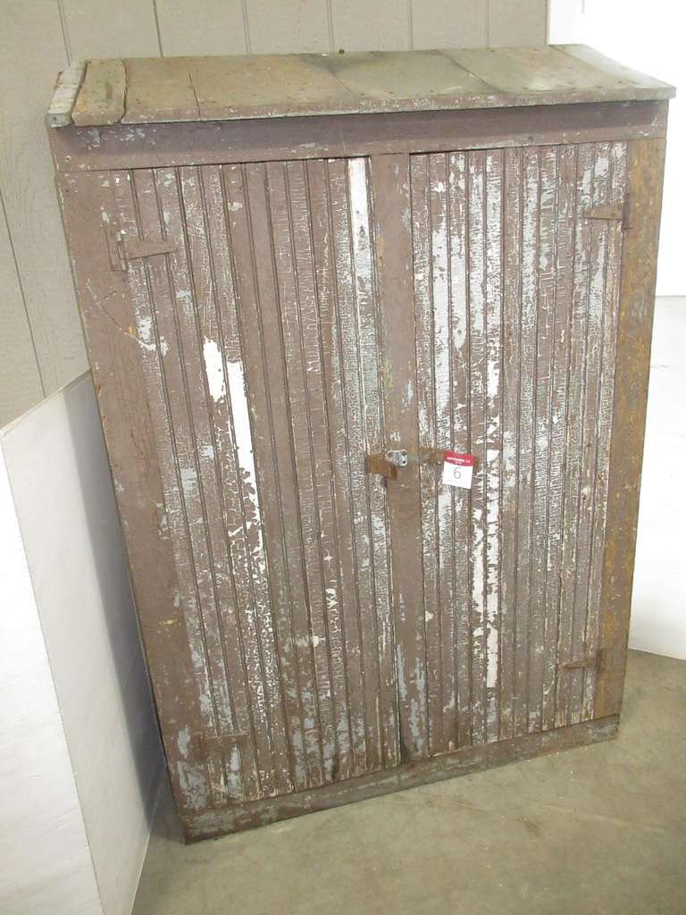 Antique Wood Cabinet with Two Doors
