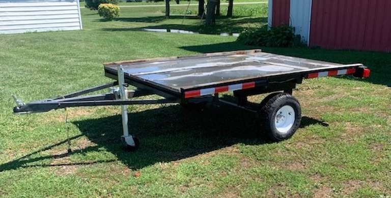 "Utility Trailer, Total Length 11' 7"", Trailer Bed  5' 5"" x 8', All Steel, New Lights, New Tires, New Roller Jacks, New Springs, Great for SUV or Pickup, Comes with Bill of Sale"