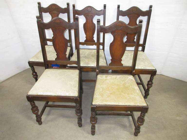 (5) Jacobean Chairs