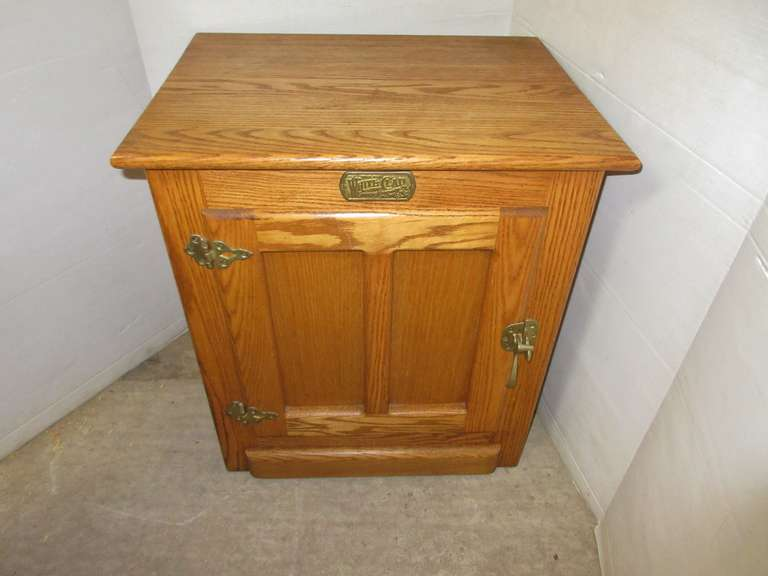 Solid Oak Stand, Looks Like Old Ice Box, Matches Lot No. 48