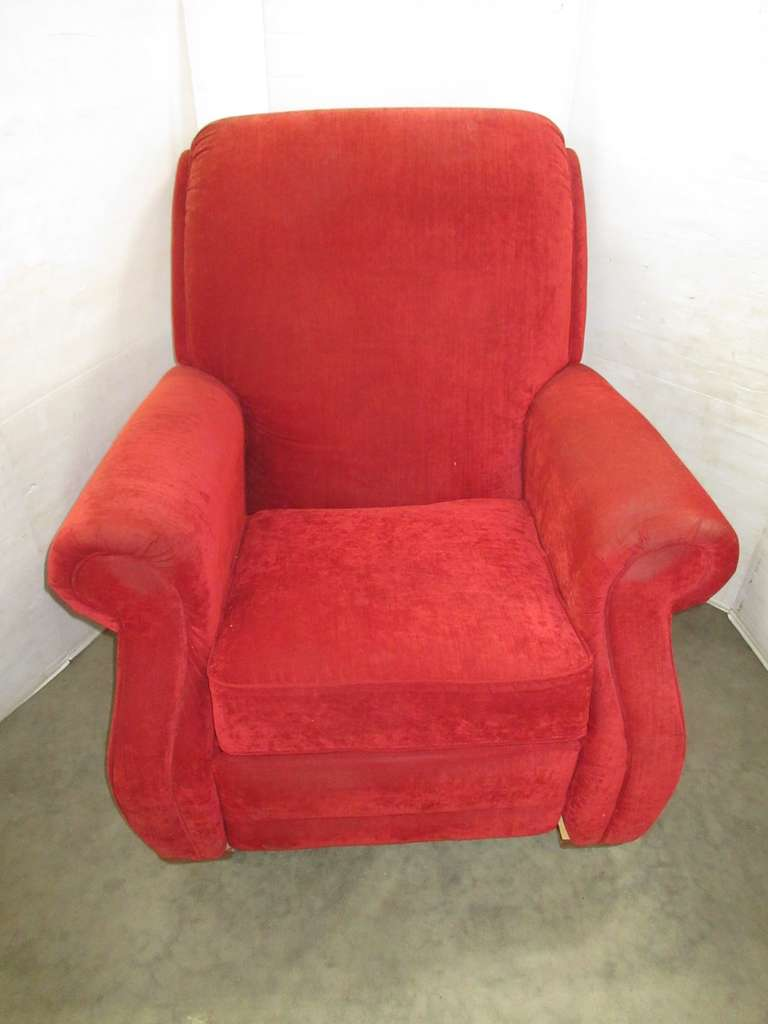 La-Z-Boy Red Recliner, Matches Lot No. 11