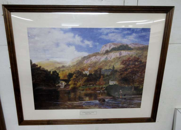 Welsh River Scene Print by Robert Gallon