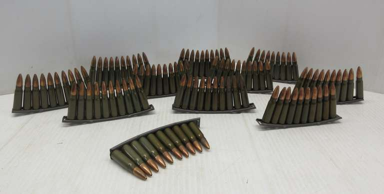 (109) Rounds of 7.62x39 AK-47 Hollow Points on Clips