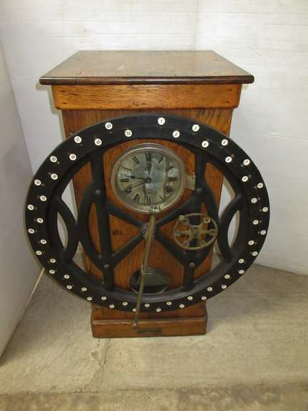 Antique Time Clock, Industrial