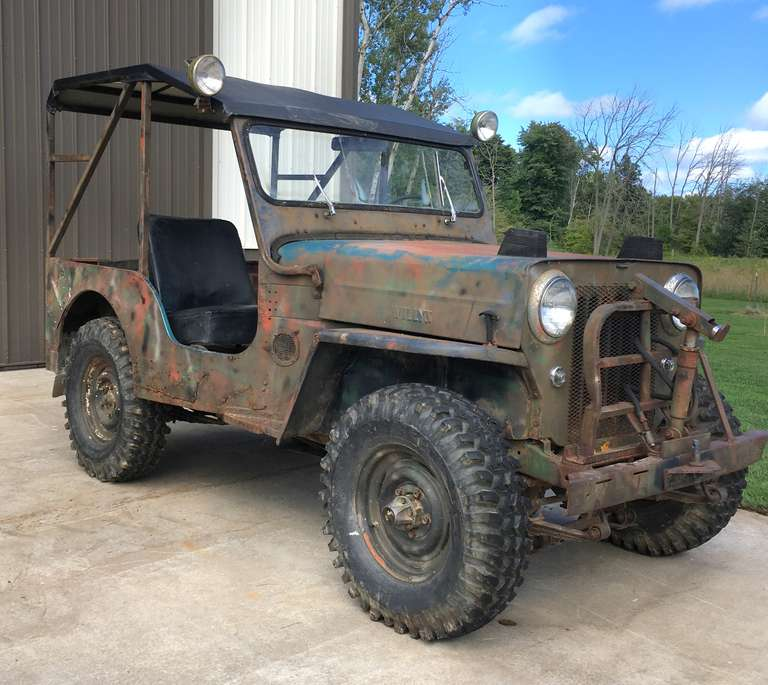1963 Willys Jeep, (30,147 Miles - Accuracy Unknown), Starts and Runs Well, Drive Like a Jeep, 4-Cylinder Engine, 3-Speed Stick with High/Low Range, Believed to have Original Drive Train, Tires are N78-15LT Buckshot Wide Mudders (Low Miles, Tread at 95%), 4WD Works, Gas Tank Leaks, Brakes Need Repair, Includes 6' Snowblade with Hydraulic Lift (Needs a Little Repair and Pump Needs to be Reinstalled), Also Includes 4-Snow Tires (Unsure of Condition), Fun Vehicle, Perfect for Restoration, New Tub...