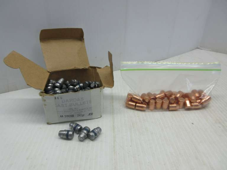 (90) .44 Cal. 240-Grain Lead SWC Bullets, and (39) .44 Cal. 240-Grain Jacketed Bullets