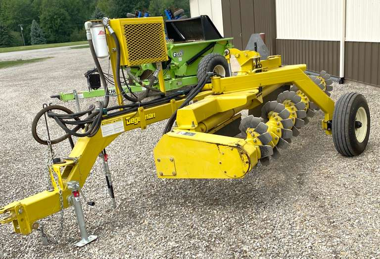 Degelman RR1500 14' Rock Rake, Hydraulically Driven Reel, with Self-Contained Oil Cooler