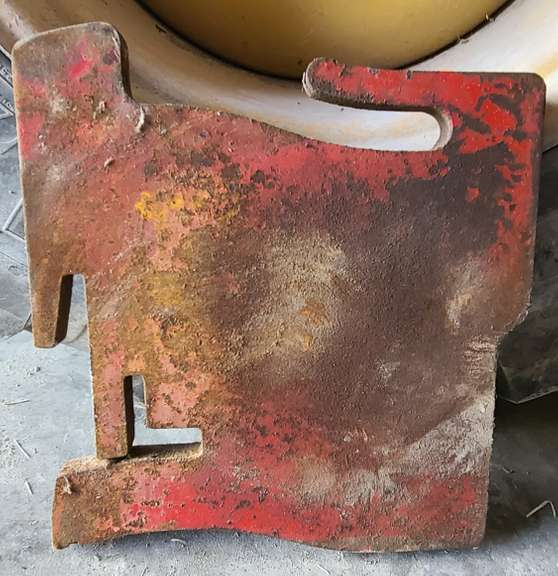 (5)-Custom Red Suitcase Weights to Match International Harvester Mounts, Weigh Approx. 65 lbs. Each