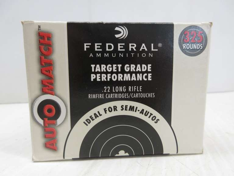 (325) Rounds of .22 Long Rifle AM22 Federal Ammo
