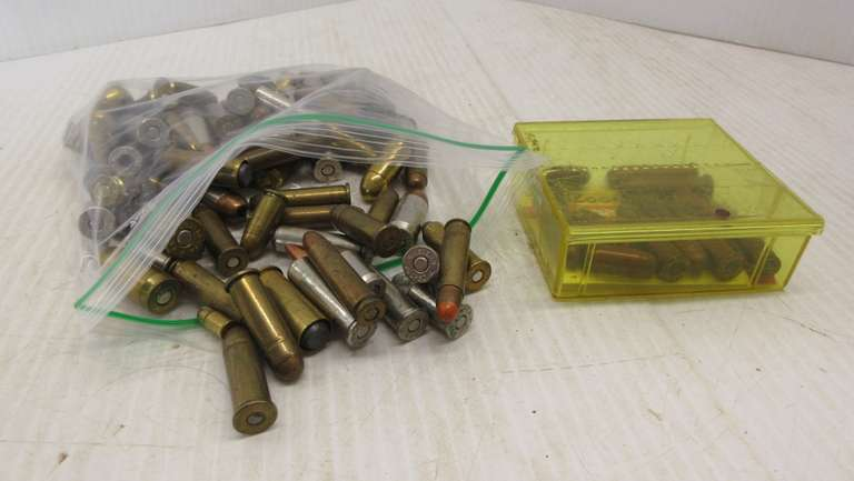 (80) Rounds of Pistol Ammo, Includes: .38 Special, .45 Auto, .45, .357, and Other Hollow Points, Gold, and Lead