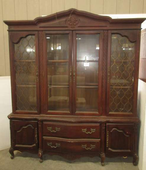 Bassett Wood China Cabinet with Glass