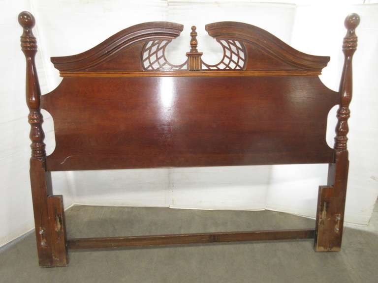 Cherry Queen Anne Style Headboard, Queen Size, Matches Lot No. 16, 18, and 19