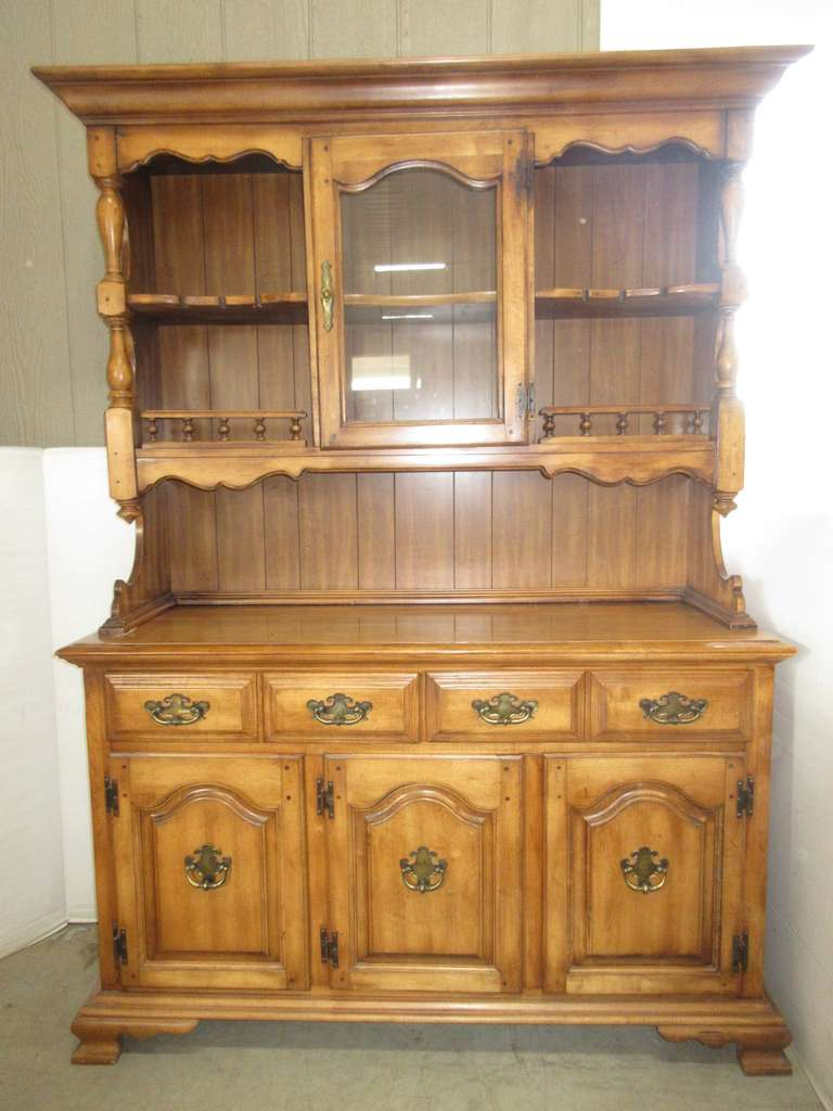 Two-Piece Wood Cabinet