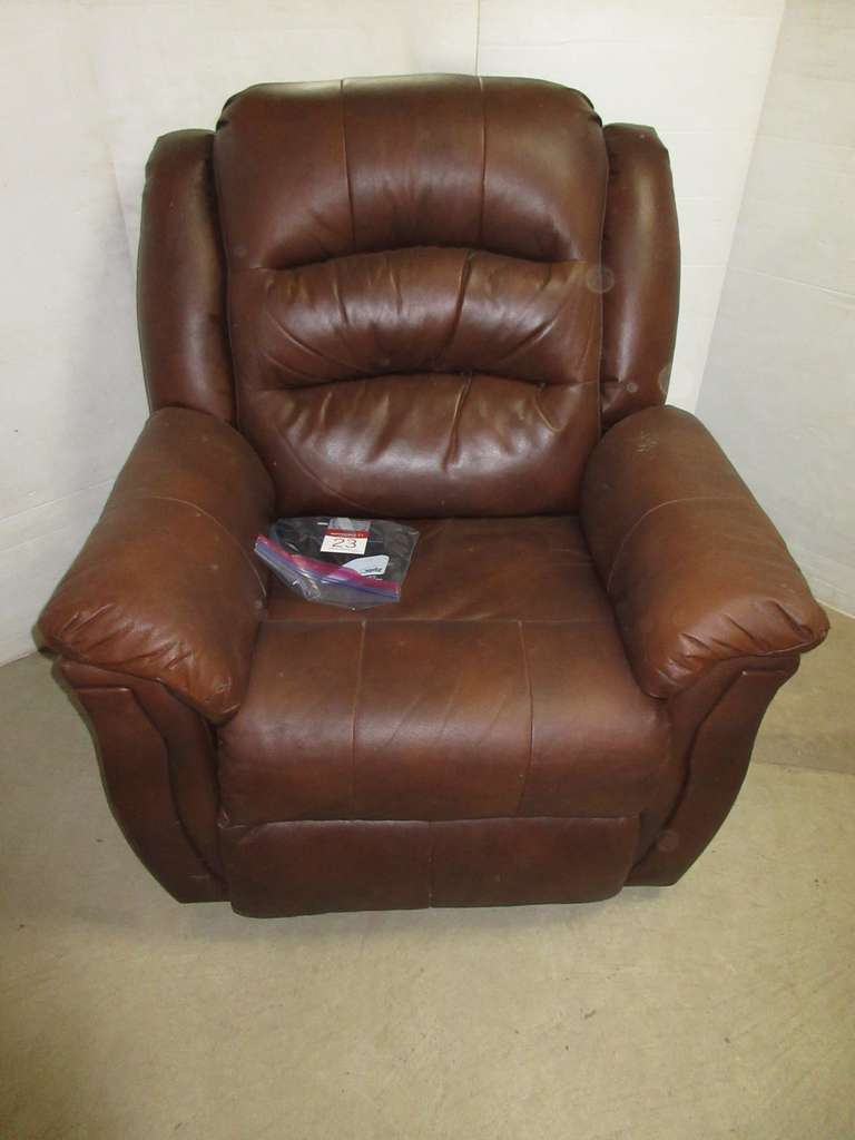 Mocha Brown Motorized Recliner with USB Port, Has Reclining Leg/Back and Separate Head/Neck Recline Buttons