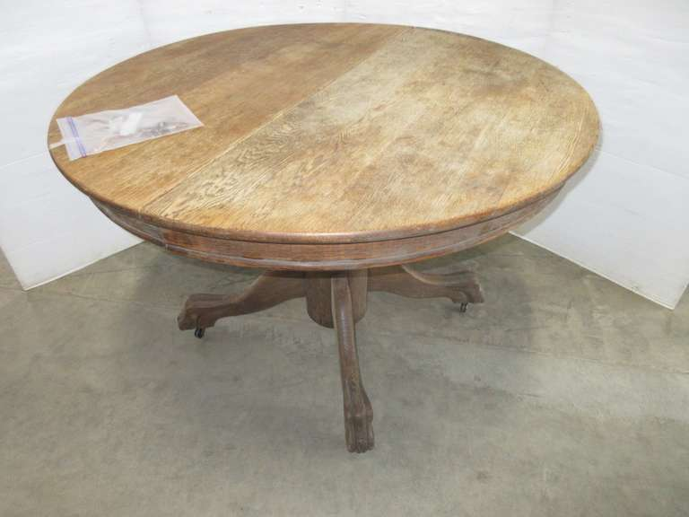 Round Oak Antique Table