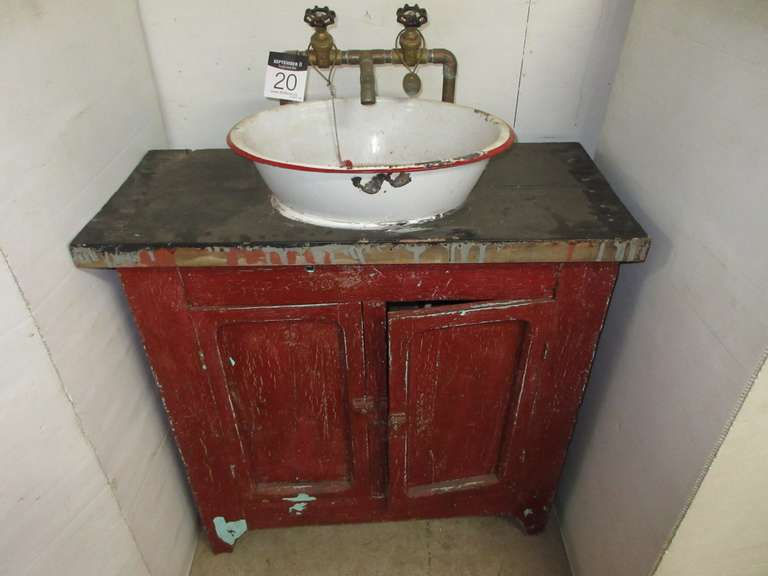 Primitive Wash Stand, Made into a Sink