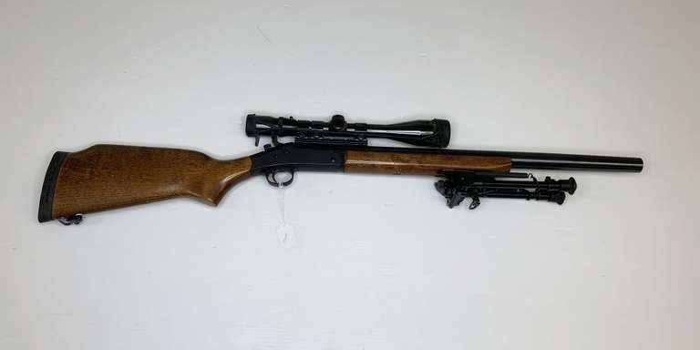 New England Firearms Pardner Tracker II Plus 12-Gauge with a Weaver Scope, This Item is From the Gerald Force Estate of Millington, MI