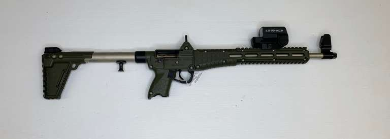 Kel-Tec Sub 2000 9mm Folding Semi-Automatic Assault Rifle, with New Red Dot Scope and Magazine