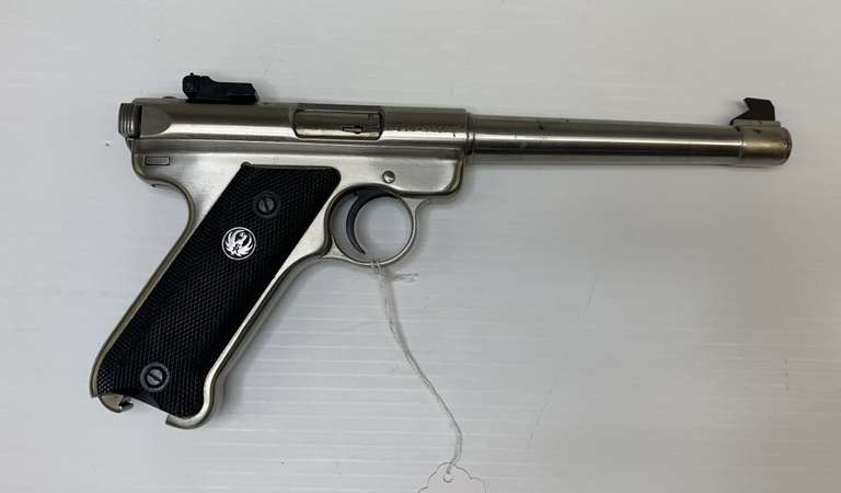 Ruger Mark II Target .22 LR with Clip, Ammo, and Case, This Item is From the Gerald Force Estate of Millington, MI